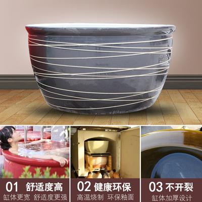 陶瓷泡澡缸景德镇椭圆形大缸极乐汤泡缸1.2米洗浴大缸温泉洗澡缸