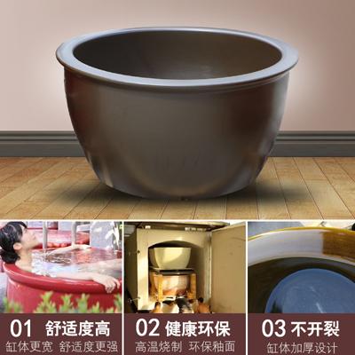 景德镇陶瓷泡澡缸极乐汤温泉会所洗浴缸韩式洗浴大缸泡澡水缸厂家