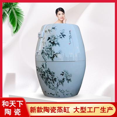 景德镇陶瓷养生缸美容院会所养生产后修复发汗熏蒸缸家用汗蒸缸