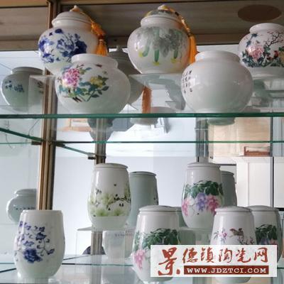 茶叶罐陶瓷迷你密封罐景德镇茶具配件小号便携普洱茶储茶罐厂家可定制