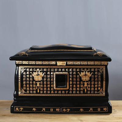 骨灰盒玉石汉白玉标准男女寿盒高档水晶陶瓷棺材加大骨灰盒殡葬品厂家