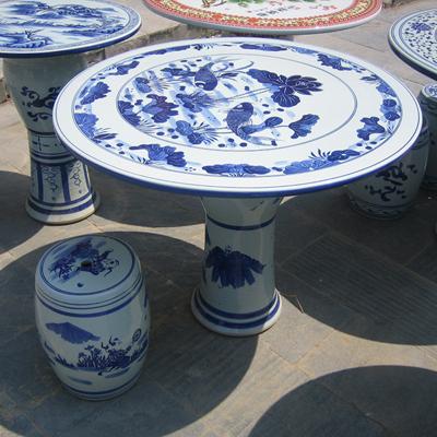 景德镇陶瓷器仿古陶瓷桌子凳子套装户外园林装饰庭院阳台花园桌椅厂家