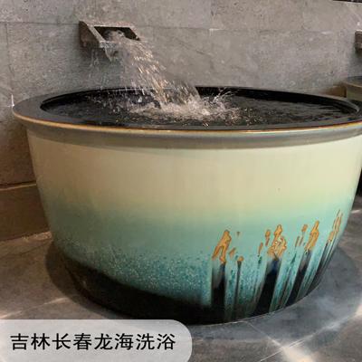 景德镇陶瓷鱼缸家用阳台办公室金鱼缸客厅流水摆件庭院大缸养鱼盆厂家