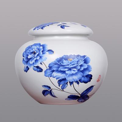 茶叶罐大号小号密封罐普洱储存收纳茶盒家用陶瓷醒茶罐子厂家