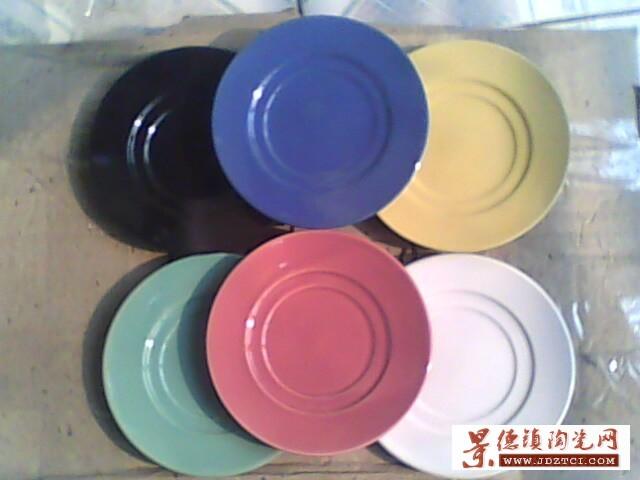 10.5色釉盘