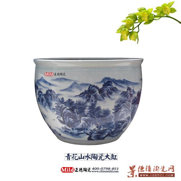 供应陶瓷大缸,青花手绘陶瓷大缸,瓷器大缸