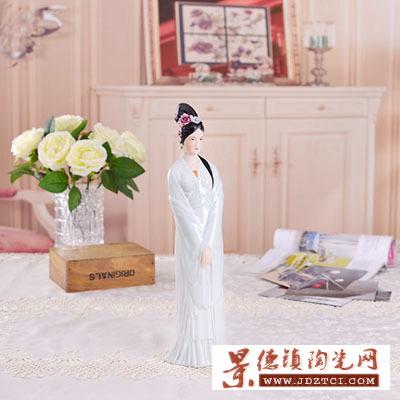 景德镇陶瓷雕塑美女创意礼品家饰工艺品唐自强春讯饰品摆件