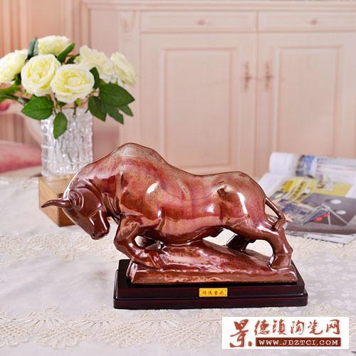 景德镇陶瓷礼品瓷雕中国工艺美术大师唐自强鸿运当头瓷器