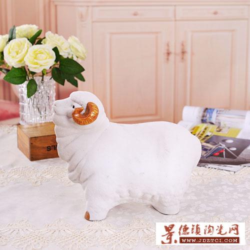 景德镇陶瓷雕家居装饰品客厅摆件熊钢如吉祥如意十二生肖瓷