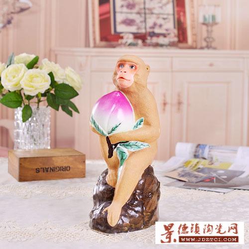 大师张育贤作品金猴献寿