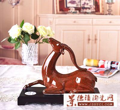 2015景德镇生肖羊摆件陶瓷灵羊赐福