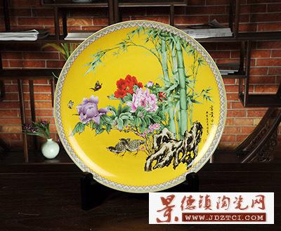 景德镇陶瓷富贵平安张俊良现代中式工艺品家居客厅摆件结婚