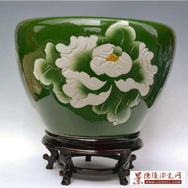 景德镇雕刻陶瓷鱼缸