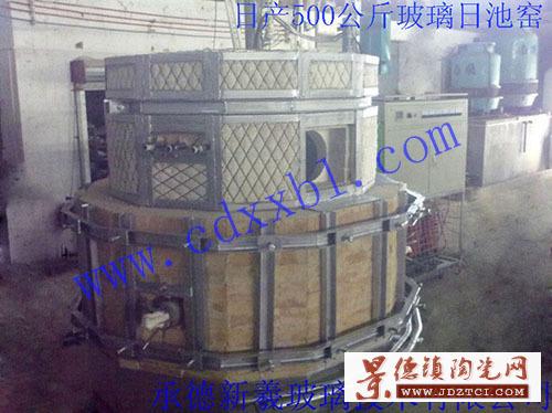 设计建造日产500公斤玻璃电熔炉