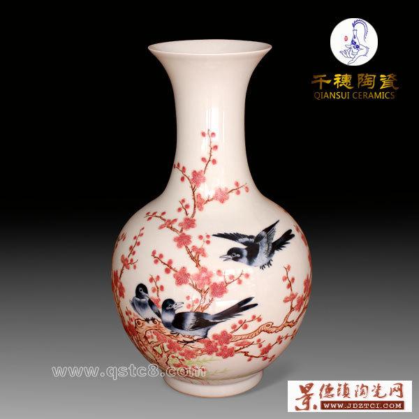 """什么叫""""7501""""水点桃花花瓶?景德镇水点桃花花瓶的制作工艺"""