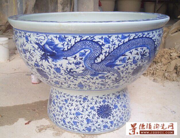 批发直销陶瓷栽树花盆鱼缸厂家生产加工定做定制打样陶瓷大缸大盆价格