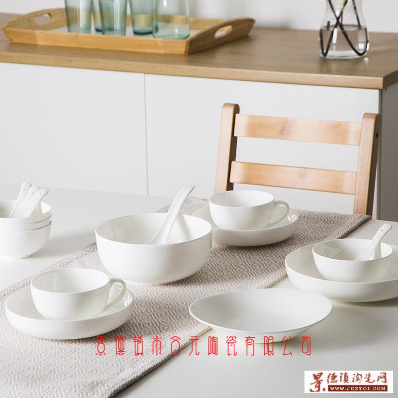 景德镇纯白骨瓷餐具
