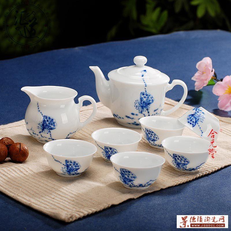 限量景德镇手绘青花瓷茶具套装