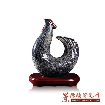 陶瓷鸡摆件工艺品家居装饰品客厅创意礼品吉祥物大号桌面