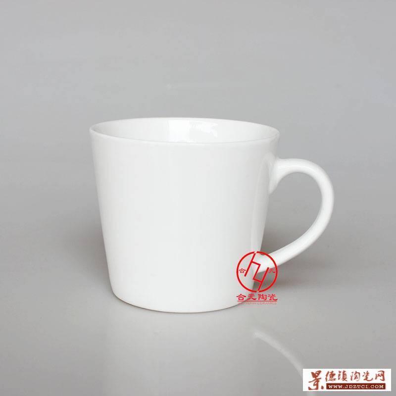 纯白陶瓷马克杯批发厂家