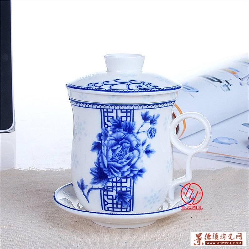 景德镇青花陶瓷茶杯批发厂家