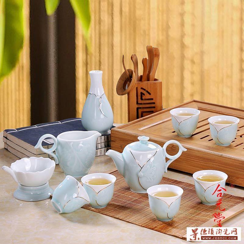高档手绘茶具