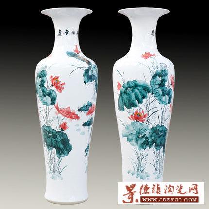 赠送寺庙建成陶瓷大花瓶加字
