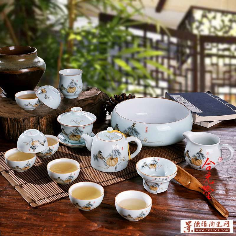 高档礼品陶瓷茶具套装