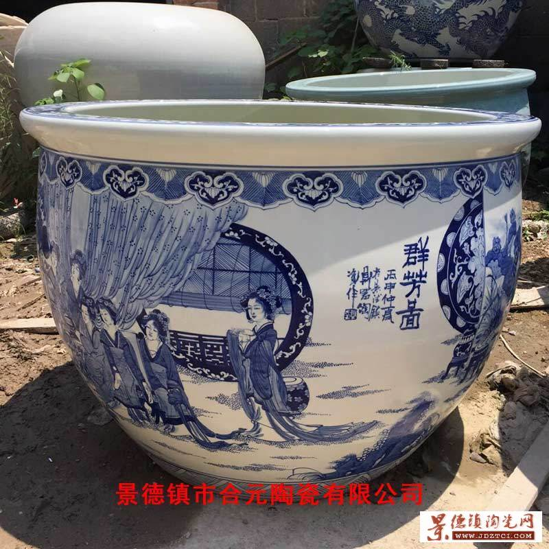 景德镇陶瓷手绘大缸