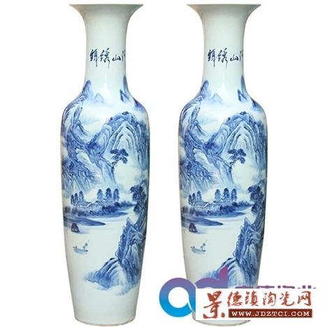 景德镇陶瓷花瓶 开业大花瓶定制  定制礼品陶瓷大花瓶
