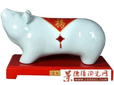 2018年生肖猪瓷雕刘少平《富足如意》