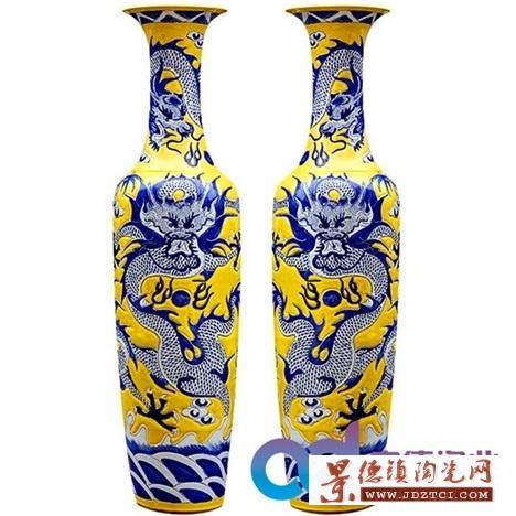 定制礼品大花瓶 瓷器大花瓶定制 景德镇陶瓷花瓶 落地摆设陶瓷大花瓶