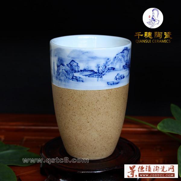 景德镇千穗陶瓷会议礼品杯款式定制