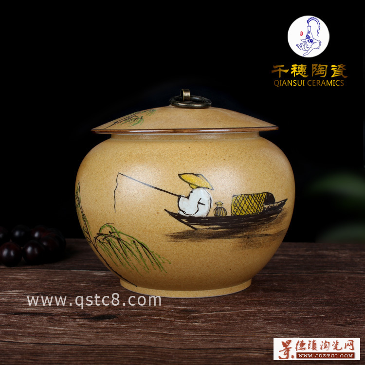 陶瓷红枣罐食品罐
