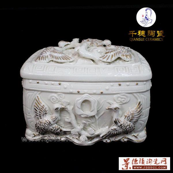 景德镇高档瓷器骨灰盒高清图片展示细节