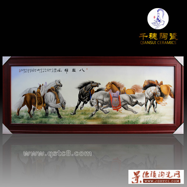 景德镇受欢迎仿古山水国画定制瓷板画