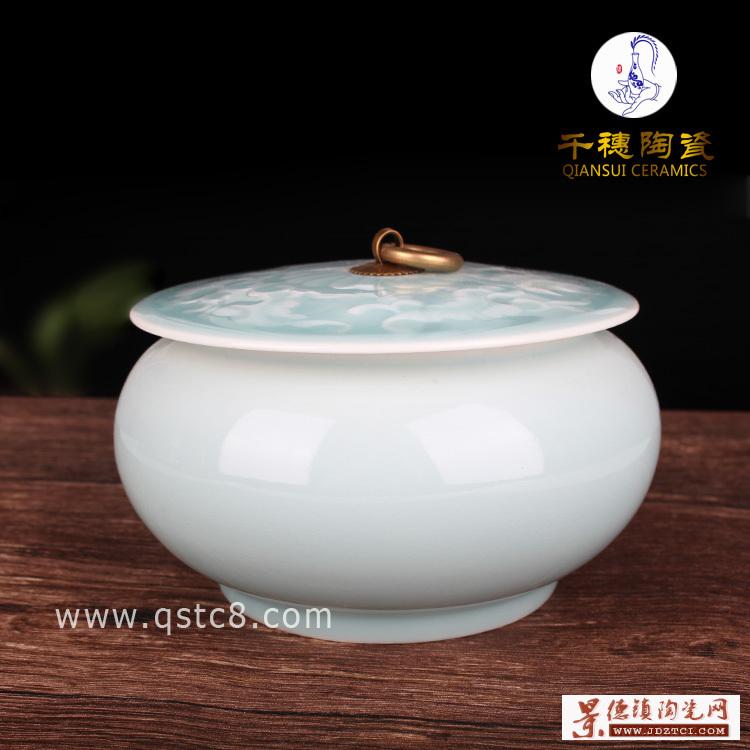 简约现代手工陶瓷罐摆件