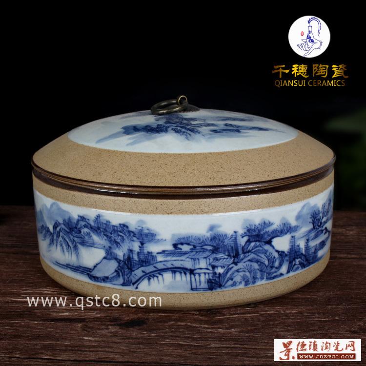 景德镇手绘优质瓷罐大口径