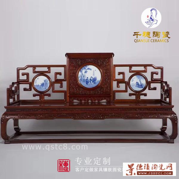 中式手绘镶嵌瓷片定制尺寸