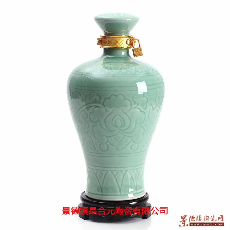 景德镇白酒容器陶瓷酒瓶加字批发定做