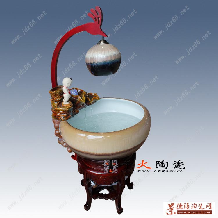 景德镇陶瓷流水鱼缸生产厂家陶瓷鱼缸图片