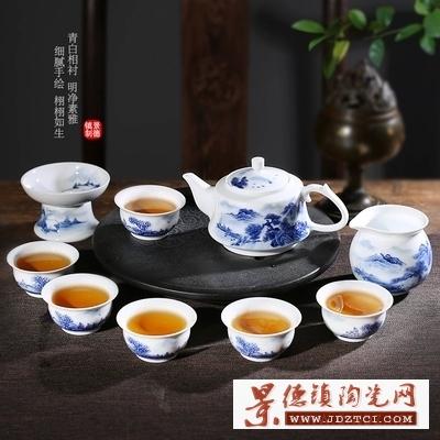 景德镇陶瓷带图定制不规则北欧茶具