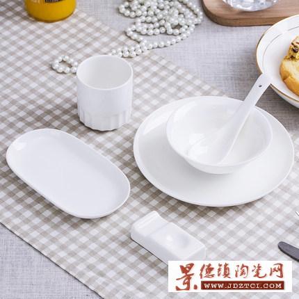 古典欧式花纹金边碗盘餐具套装