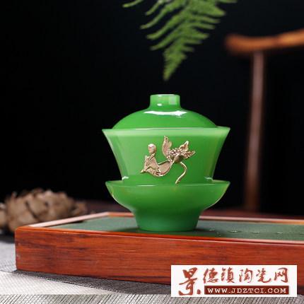 景德镇玉瓷盖碗