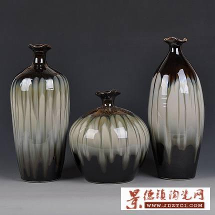 景德镇手绘手工陶瓷三件套