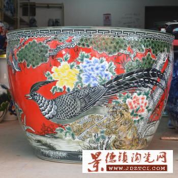 景德镇陶瓷器鱼缸