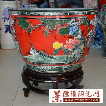 景德镇陶瓷鱼缸
