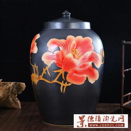 景德镇陶瓷调味罐酱料瓶盐盒味精瓶糖罐储物桶盐罐辣椒豆瓣猪油缸