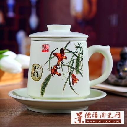 龙泉青瓷陶瓷茶杯