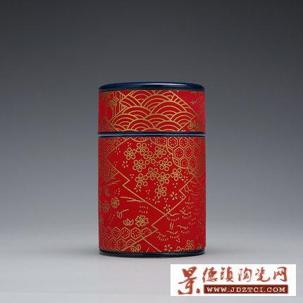 现代简约北欧青花瓷茶叶罐陶瓷膏方罐密封罐普洱罐花茶罐批发定制